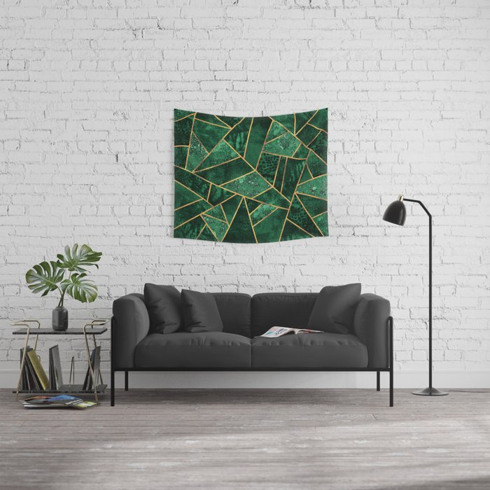 Deep Emerald Wall Tapestry