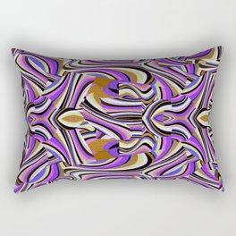 Retro Renewal - Purple Waves Rectangular Pillow