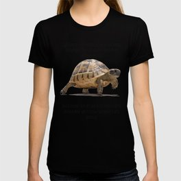 When A Tortoise Embarks On A Journey African Proverb T-shirt