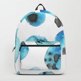 watercolor polka dots seamless pattern Backpack