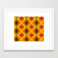 orange pattern Framed Art Prints featuring Orange Pattern by Art-Motiva
