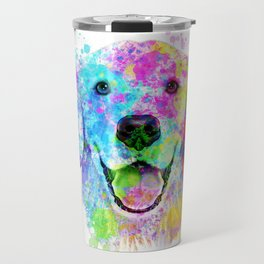Golden Retriever Watercolor, Watercolor Dog, Golden Retriever Art Travel Mug