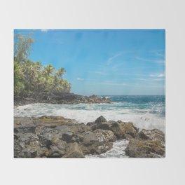 Hawaiian Ocean Blue Throw Blanket