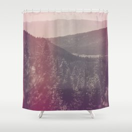 Light Leaked Forest Shower Curtain