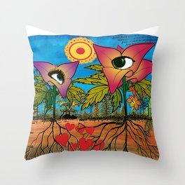 Intra-terrestrial messages Throw Pillow