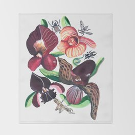 Orchid Cafe Throw Blanket