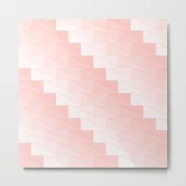 Pink stairs made with triangles Metal Print