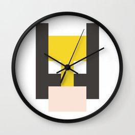 hero pixel yellow black flesh Wall Clock