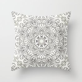 Drawing Floral Doodle G2 Throw Pillow