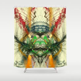Chaos Waves Shower Curtain