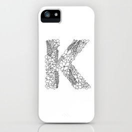 Floral Type - Letter K iPhone Case