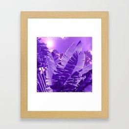 Ultra Violet Tropical Beach Palm Framed Art Print