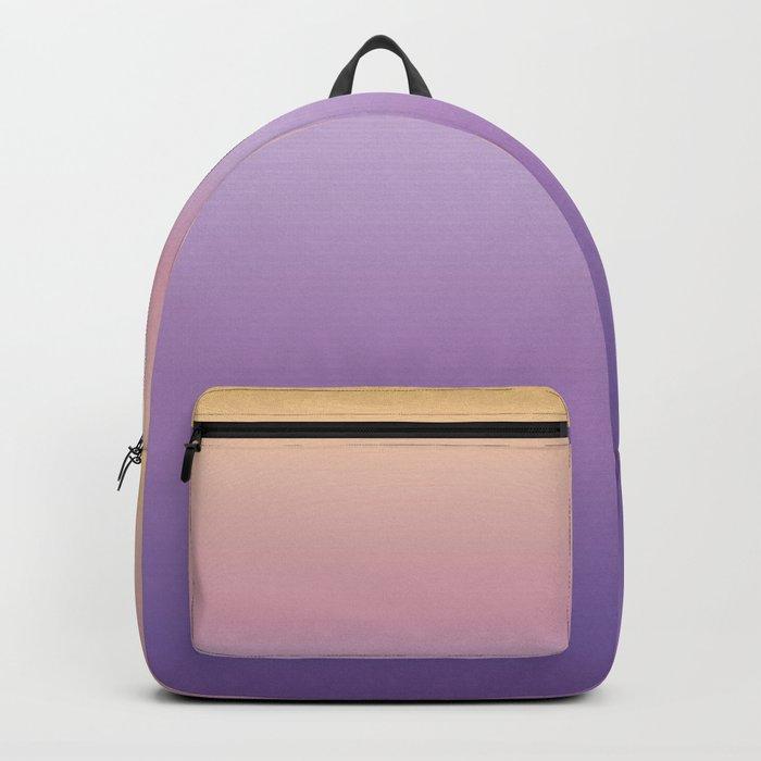 Mindfulness - purple and orange Backpack