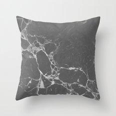 Marble Gray Throw Pillow