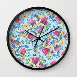 Sarah Jager Blooms Wall Clock