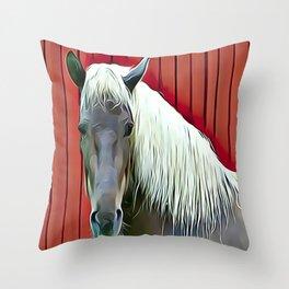 Icelandic Palomino Horse Throw Pillow