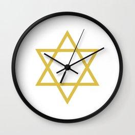 David Star Wall Clock