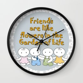 Happy Friendship Forever Wall Clock