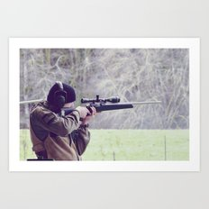 Young Shooter Art Print