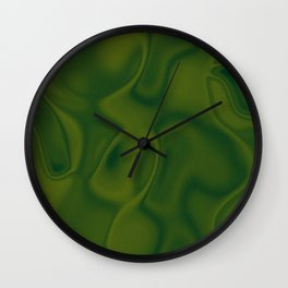 Moss Green Silk Wall Clock