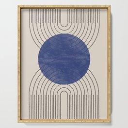 Blue Contemporary Design Serving Tray