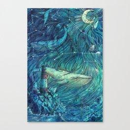 Moonlit Sea Canvas Print