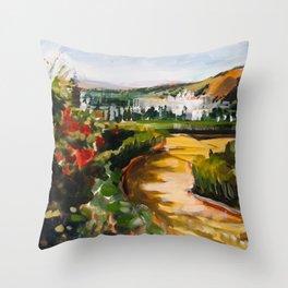 Gardens of La Alhambra Throw Pillow