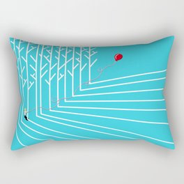 Astro Balloon | My Balloon Friend | Astronaut in Forest | Cosmonaut | pulps of wood Rectangular Pillow