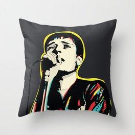 Ian Curtis Pop Art Quote / Joy Division Throw Pillow