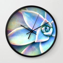 Bright Succulent Wall Clock