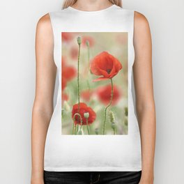 Dream poppies. Wonderful spring Biker Tank