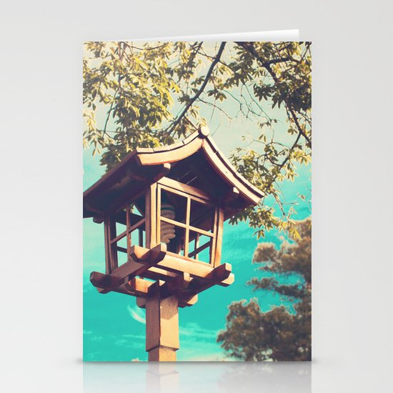 Japanese Lamp  (Retro Vintage Photography) Stationery Cards