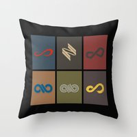 infinite Throw Pillows featuring Infinite by Sara Eshak