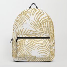 Elegant faux gold glitter tropical plants pattern Backpack