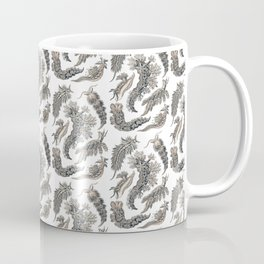 Ernst Haeckel Nudibranch Sea Slugs Monochrome Silver Coffee Mug