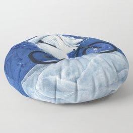 Polar bear on the Moon Floor Pillow