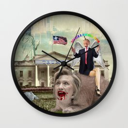 WWWTF Grab America By The Pussy Wall Clock