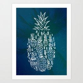 Pineapple Fields Forever Art Print