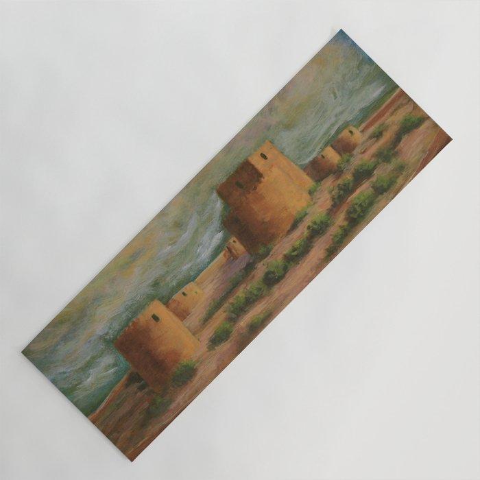 Spanish Fortress Ac160703a Yoga Mat By Csteenart Society6