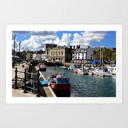 Plymouth Devon Water Paint Art Print