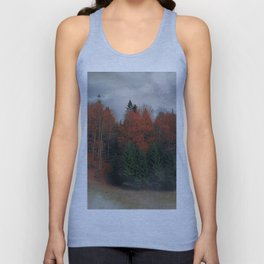 October Forest Red Green Unisex Tank Top