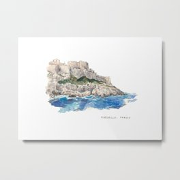 Place cards project: Marseille, France Metal Print