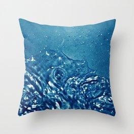 Water spash Throw Pillow