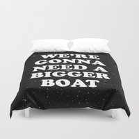 jaws Duvet Covers featuring jaws by MelleNora
