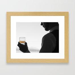 Gentleman with Scotch Framed Art Print