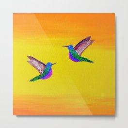 Hummingbird Sunset Metal Print