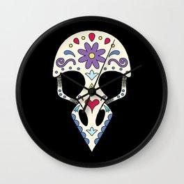 Bird sugar skull Wall Clock