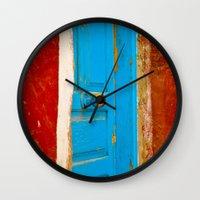 door Wall Clocks featuring Door by Maite Pons
