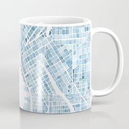 Map Seattle Washington Blueprint watercolor map Coffee Mug