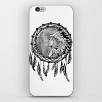 dream catcher iPhone & iPod Skins featuring Dream Catcher by Astrablink7